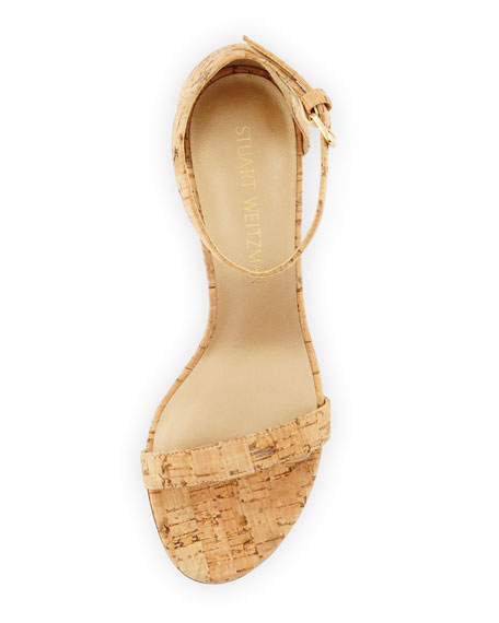 Nearlynude Cork City Sandals, Natural
