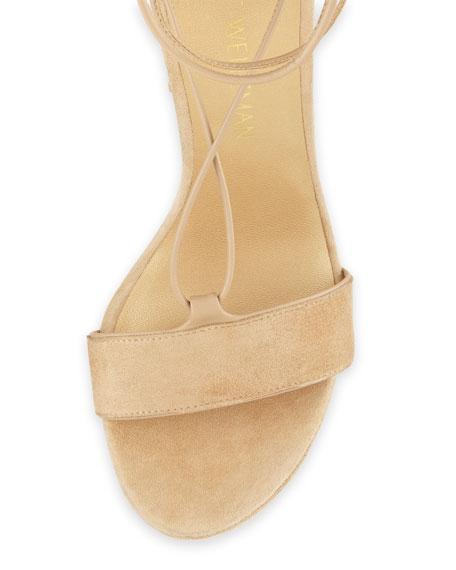 Wrap-It Suede Chunky-Heel Sandal, Beach