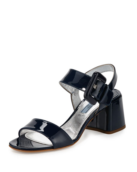 Prada Patent Leather Buckle Sandals free shipping amazing price rzp9xfBdVu