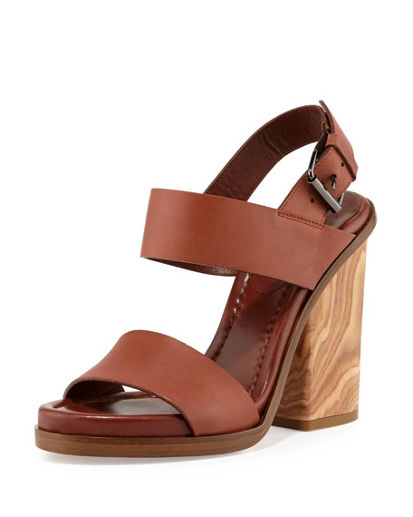 Vince Haley Slingback Leather Sandal i7Qodg