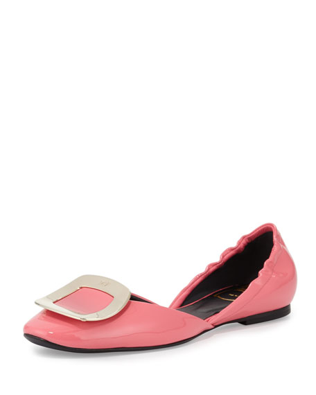 Ballerine Chips d'Orsay Flat, Pink