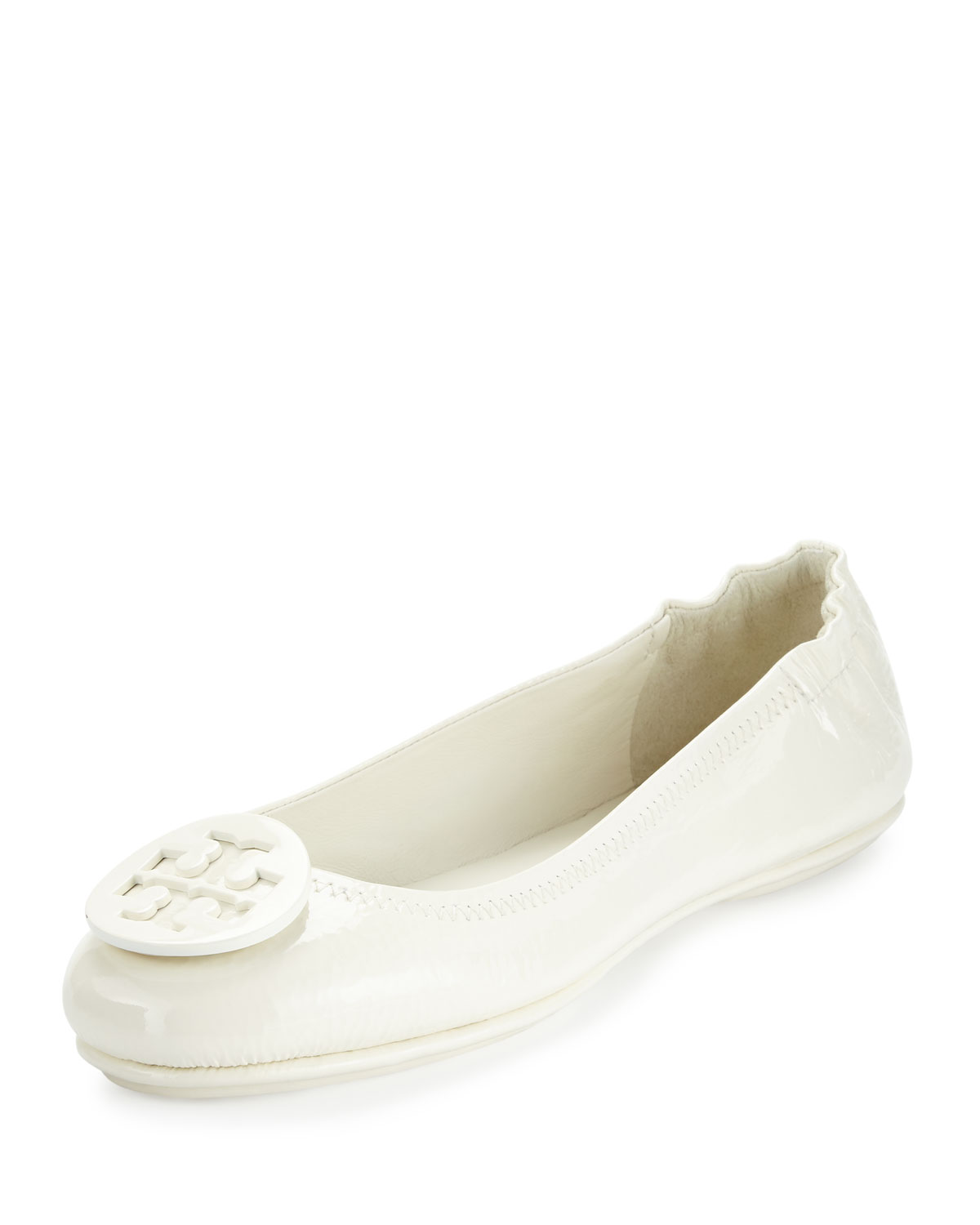 016523dfcbfa61 Tory Burch Minnie Travel Logo Ballet Flat