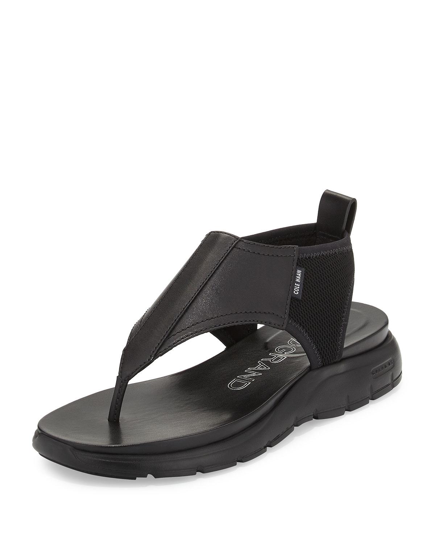 837bfbb1963 Cole Haan ZeroGrand™ Leather Mesh Thong Sandal