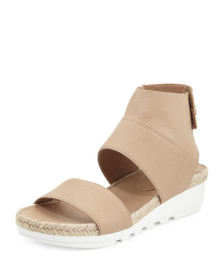 Eileen Fisher Glad Leather Espadrille Sandal, Sand