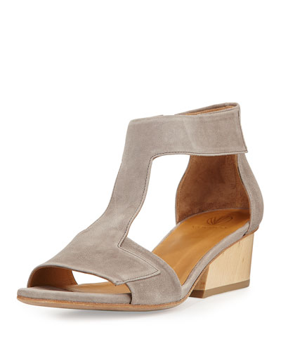 Ollie Leather City Sandal, Oxide Elephant