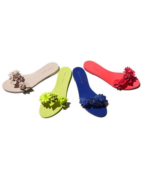 Lilico Floral Slide Sandal, Nude