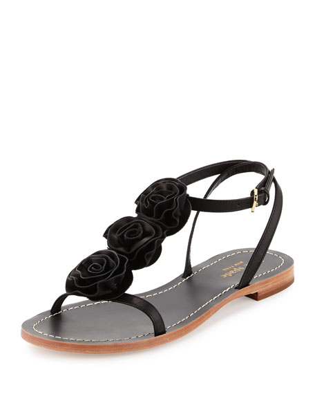 kate spade new york caryl rosette flat thong