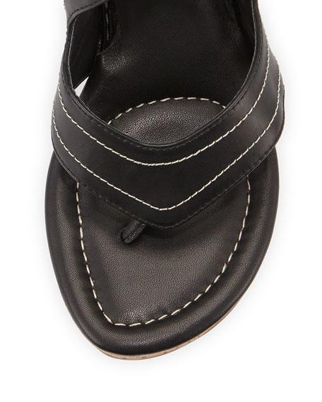 Alma Ankle-Strap Wedge Sandal, Black