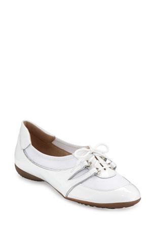Sesto Meucci Bonnie Stretch Patent Sneakers, White