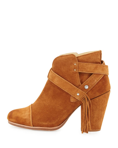 Harrow Fringe Suede Ankle Boot, Tan