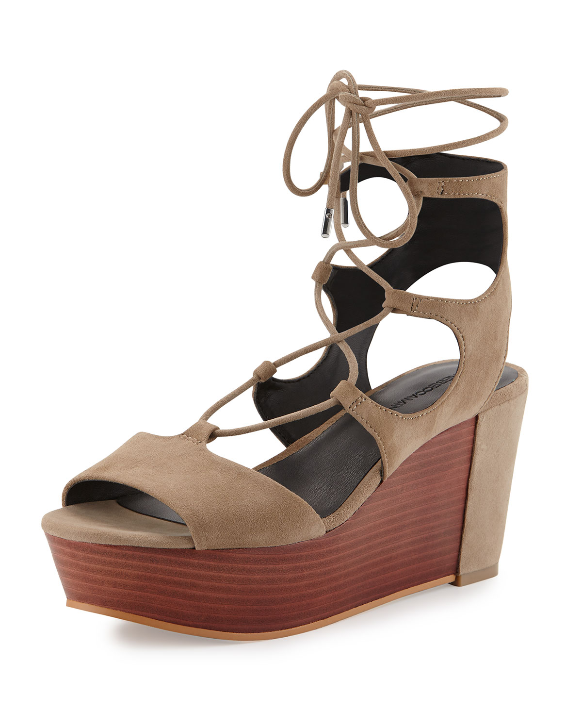 5046c8f7db95 Rebecca Minkoff Cady Lace-Up Platform Wedge Sandal