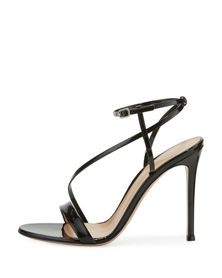 Image 2 of 3: Carlyle Patent Strappy 105mm Sandal, Black