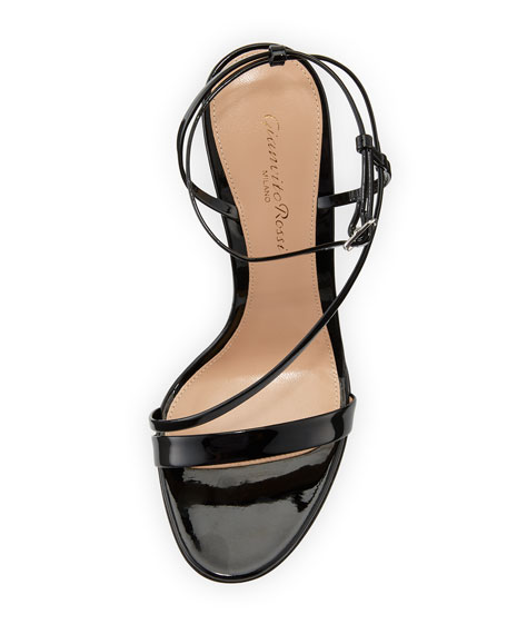 Image 3 of 3: Carlyle Patent Strappy 105mm Sandal, Black