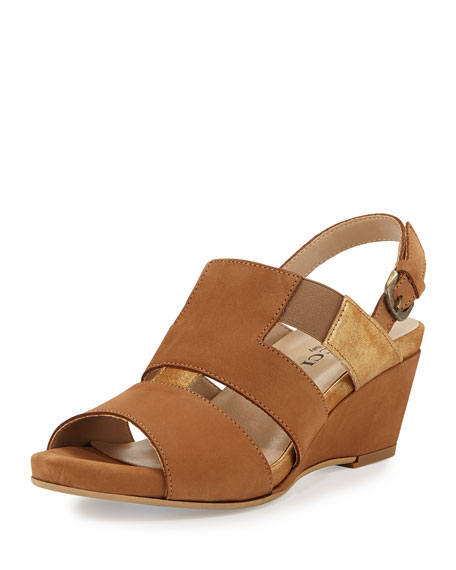 Sesto Meucci Kaleo Leather Wedge Sandal, Viso