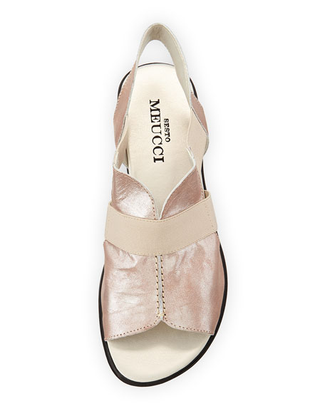 Estelle Strappy Stretch Sandal, Sand