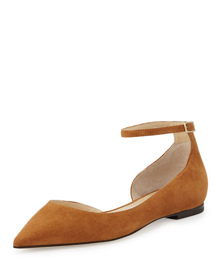 Lucy Suede Half-d'Orsay Flat, Canyon