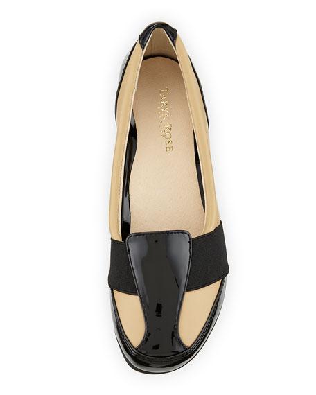 Taurus Leather Slip-On Sneaker, White/Black
