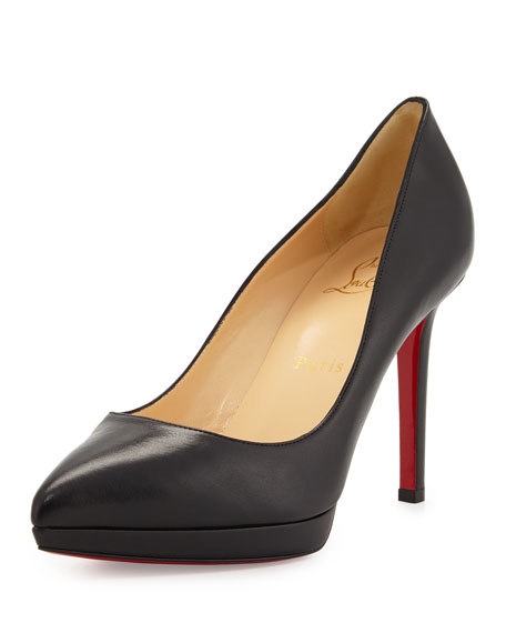 Christian Louboutin Pigalle Plato Leather Red Sole Pump, Black | Neiman  Marcus