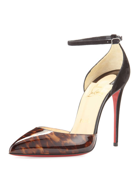 Christian LouboutinUptown d'Orsay 100mm Red Sole Pump, Testa