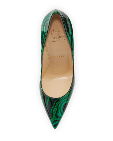 official photos 76dcd e39f1 So Kate Marbled Red Sole Pump Green/Black