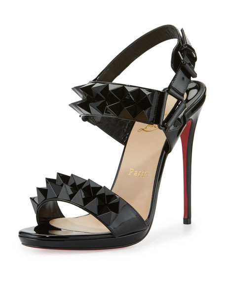 Christian Louboutin Miziggoo Spiked 120mm Red Sole Sandal,