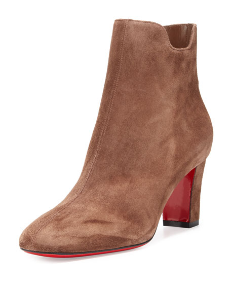 Christian LouboutinTiagadaboot Suede 70mm Red Sole Bootie,