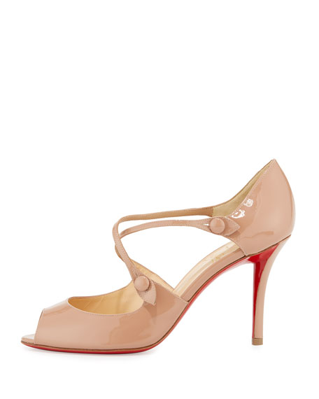 Debriditoe Patent 85mm Red Sole Pump