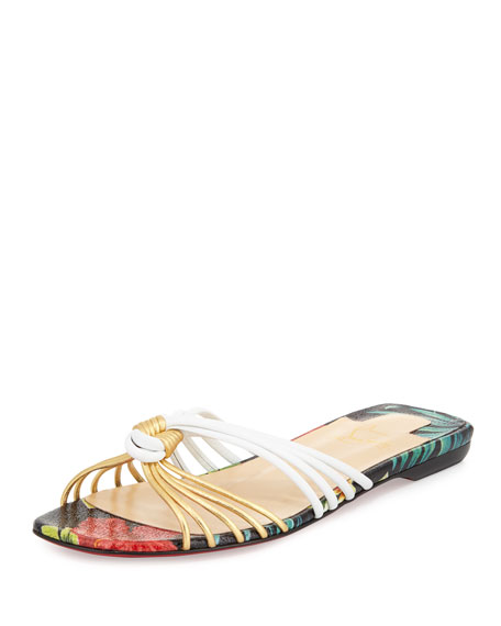christian louboutin embellished slide sandals