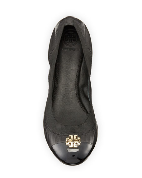 Jolie Logo Ballerina Flat, Black