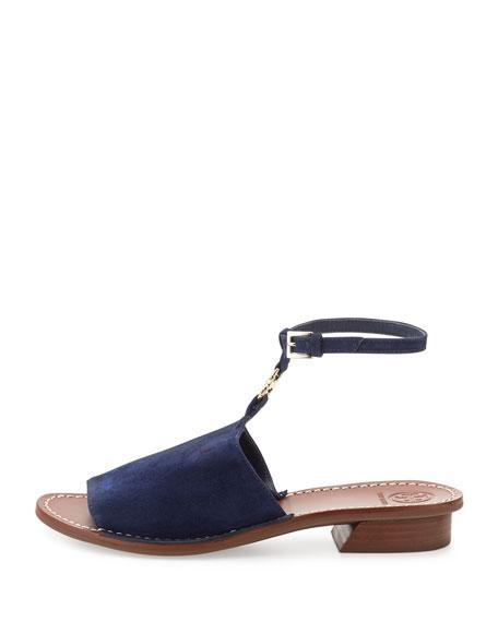 Gemini Link Ankle-Wrap Sandal, Royal Navy