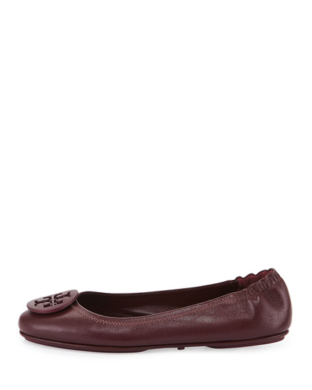 Minnie Travel Logo Ballerina Flat, Port