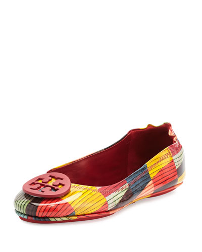 Minnie Travel Logo Ballerina Flat, Red Canyon/Multi