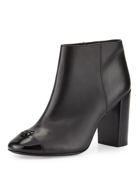 Tory BurchJolie Leather 85mm Bootie, Black
