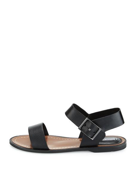 Zena Strappy Leather Sandal, Black