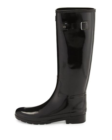 Original Refined Gloss Rain Boot, Black