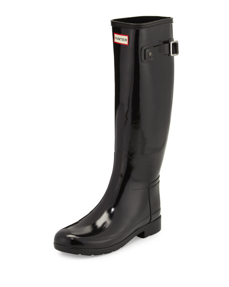 Hunter Boot Original Refined Gloss Rain Boot, Black