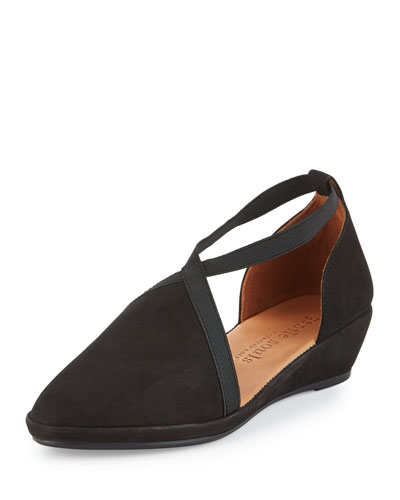 Natalia d'Orsay Demi-Wedge Pump, Black
