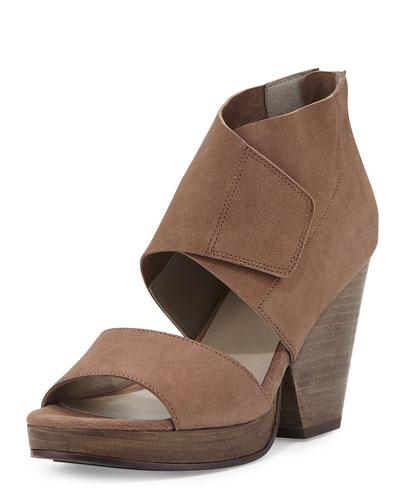 Clip Leather d'Orsay 100mm Sandal, Dusk