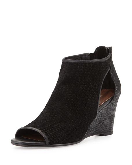 Donald J Pliner Jace Perforated Wedge Sandal, Black