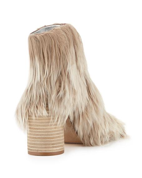 Alpaca Wood-Heel 80mm Bootie, Natural