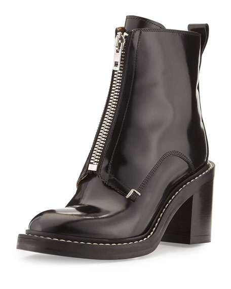 Shelby Runway Leather Bootie, Black