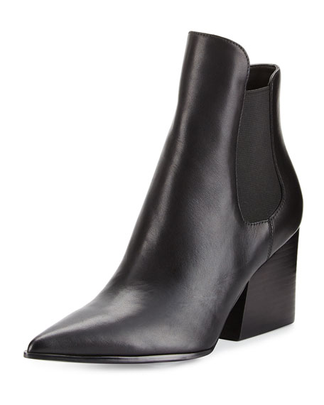 Finley Pointed-Toe Chelsea Boot, Black