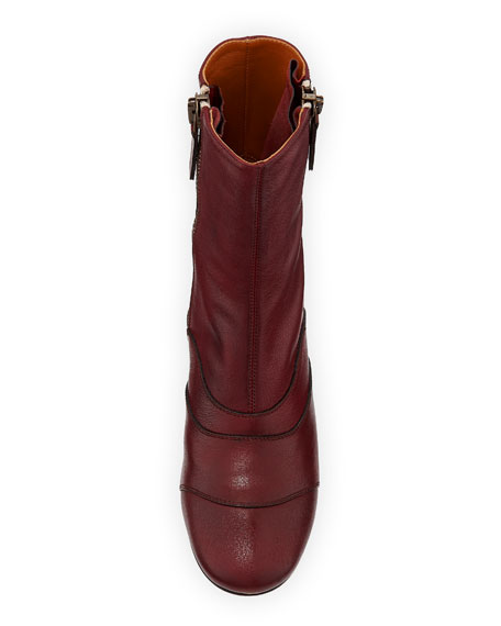 Side-Zip Leather 50mm Ankle Boot