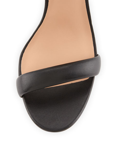 Ester Ankle-Strap Leather Sandal, Black