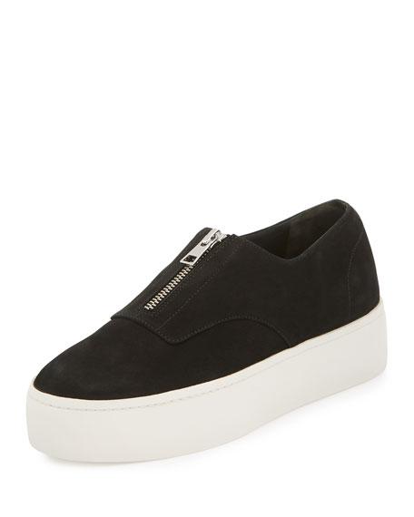 Vince Warner Zip-Front Platform Sneaker