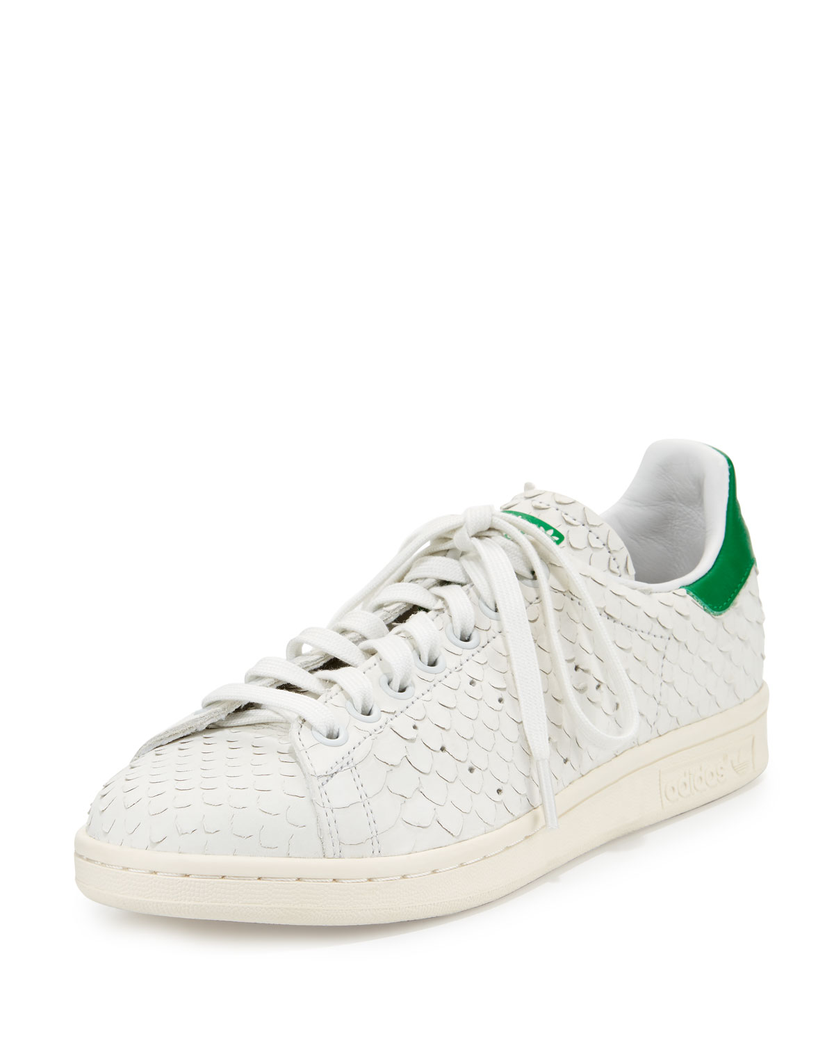 6426535c3d1ee1 Adidas Stan Smith Snake-Cut Leather Sneaker