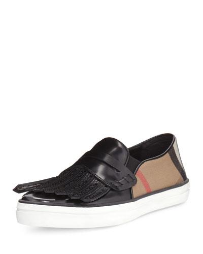 Herbert Brogue Kiltie Sneaker, Black