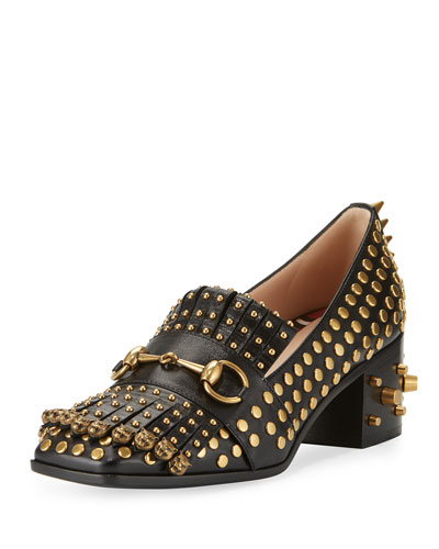 b4d6ecac71a Gucci Polly Studded Leather 55mm Loafer