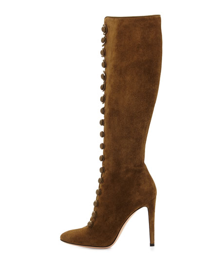 Suede 105mm Knee Boot, Marais