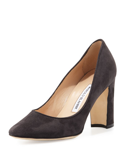 Tuccio Suede 90mm Pump, Black